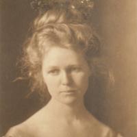 Portrait of Woman Wearing Crown